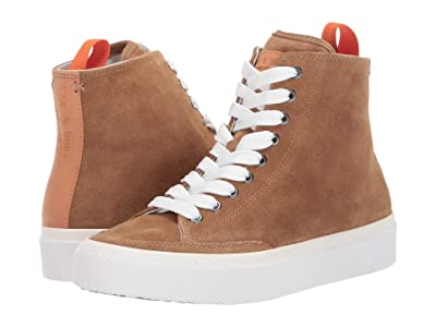 rag & bone RB High Top Sneaker (Golden Brown 1) Women