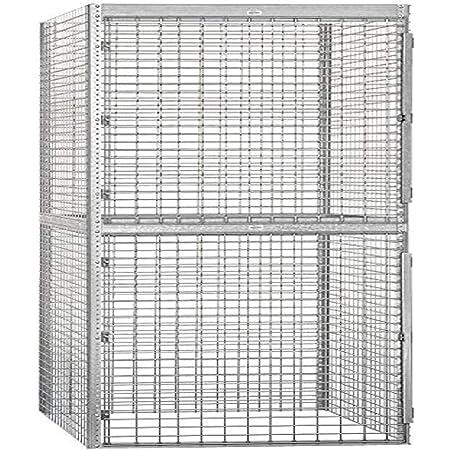Salsbury Industries Bulk Storage Locker Double Tier Starter, 48-Inch, 48-Inch