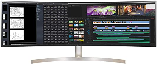"""LG DQHD Monitor 49"""" 32:9 Curved DQHD (5120 x 1440) Display, 60Hz Refresh Rate, Detailed Contrast, USB-C, Adjustable, Mult..."""