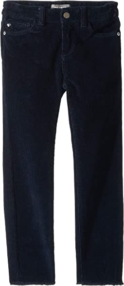 Chloe Corduroy Skinny Adjustable Waist Band and Snap Button in Curfew (Toddler/Little Kids)