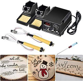 TOPQSC Digitale pyrografie machine 60 W houtverbranding machine kit instelbaar brandschilderen machine pyrografie gereedsc...
