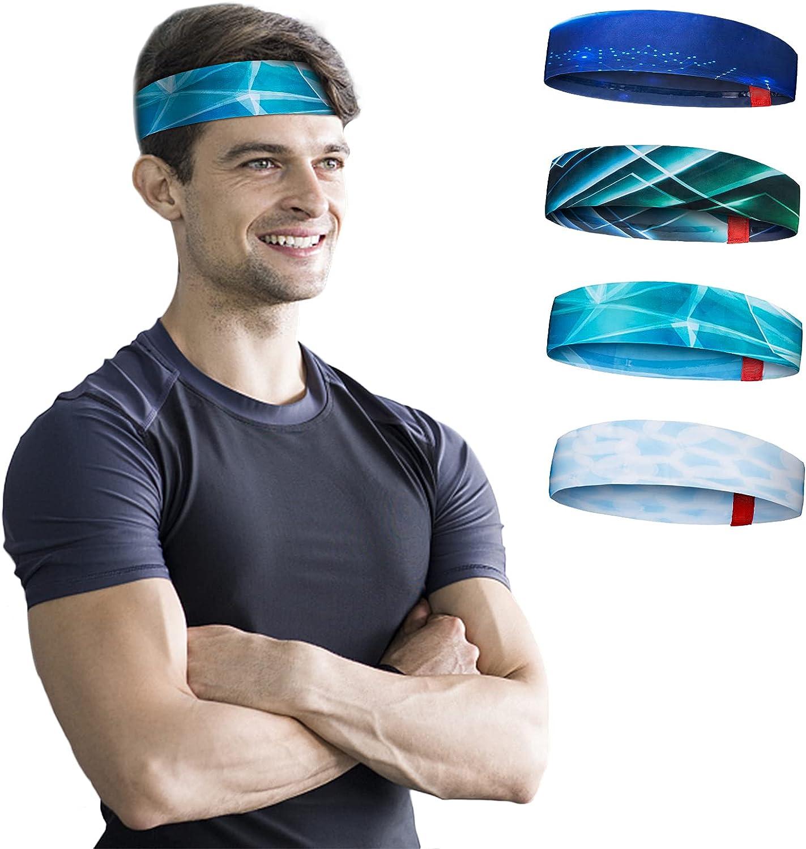 Headbands for Men 5% OFF Cold High order Silk Stret Lightweight Fashion Sweatband