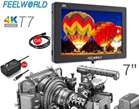 FEELWORLD T7 7 inch 4K Camera Filed Video Monitor, Full HD 1920x1200 IPS Screen Video Assist DSLR with Monitor Peak Focus with 4K HDMI 8V DC in/Out