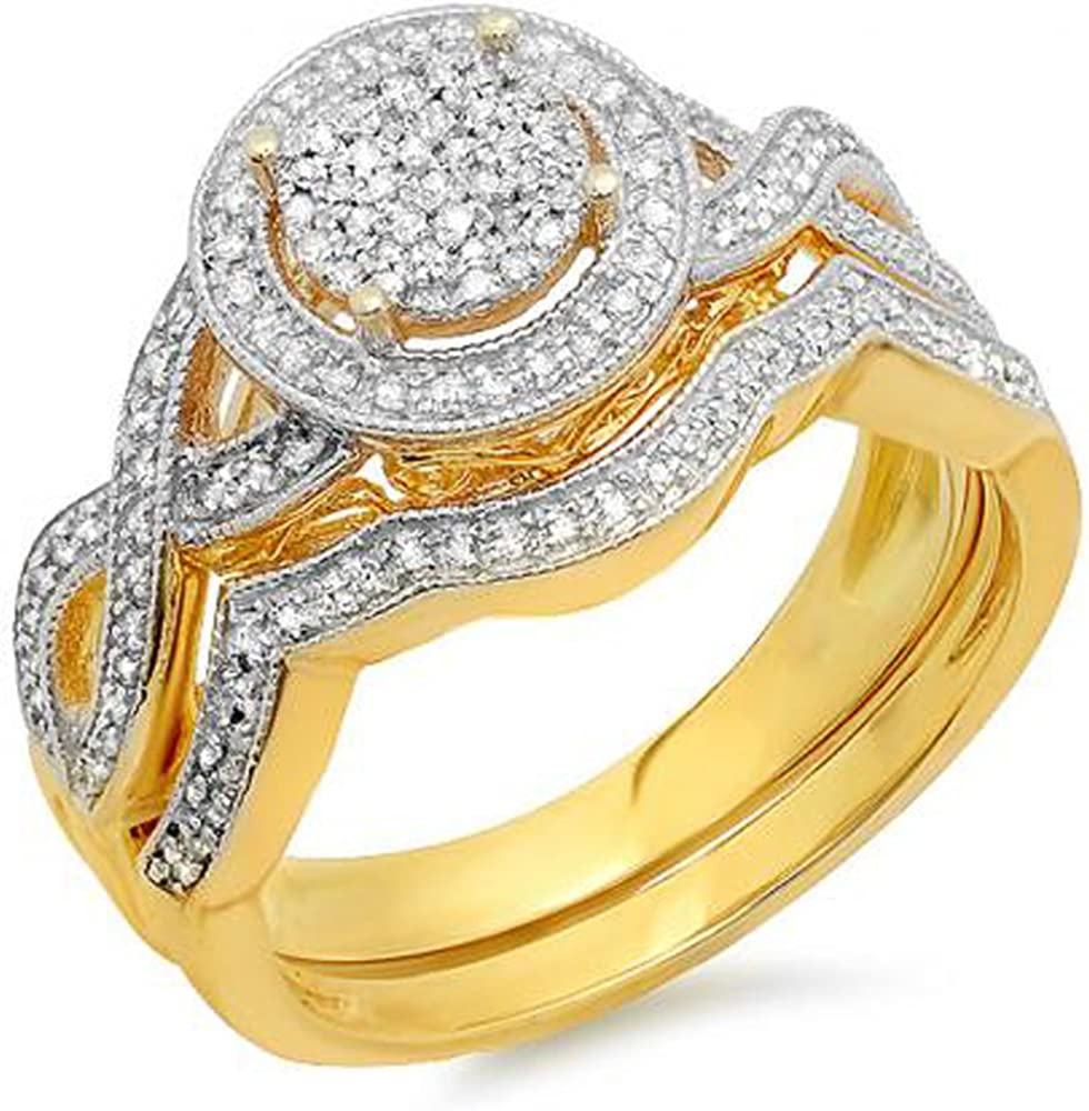 67% OFF of fixed price Dazzlingrock Collection High material 0.50 Carat ctw 10K Ladie Round Diamond