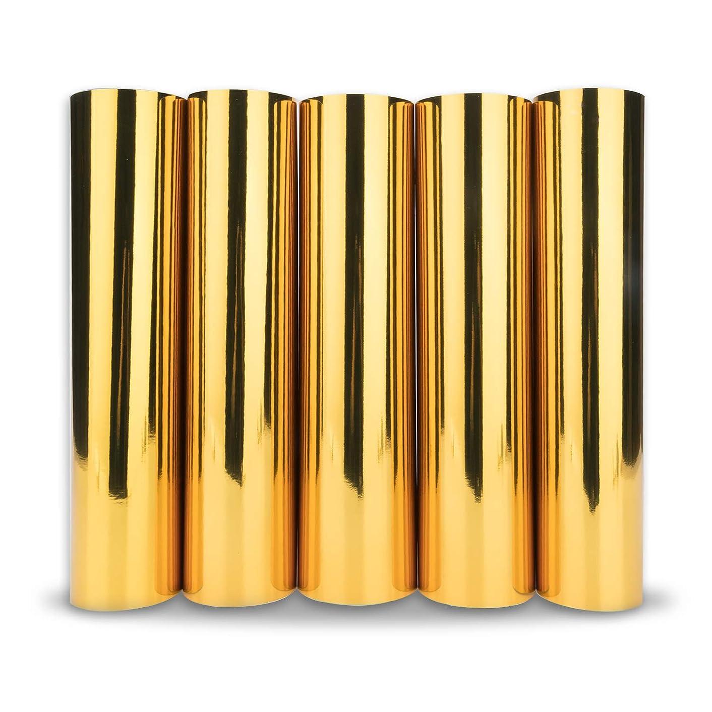 TECKWRAP Chrome Gold Adhesive Craft Vinyl Sheets