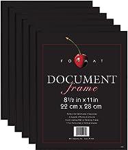 MCS 8.5×11 Inch Format Frame 6-Pack, Black (65609)