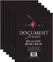 MCS 8.5x11 Inch Format Frame 6-Pack, Black (65609)