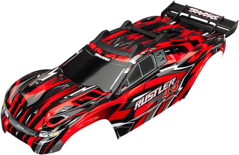 TRAXXAS Body, Rustler 4X4, Red (assembled w body mounts) (TRX6718)