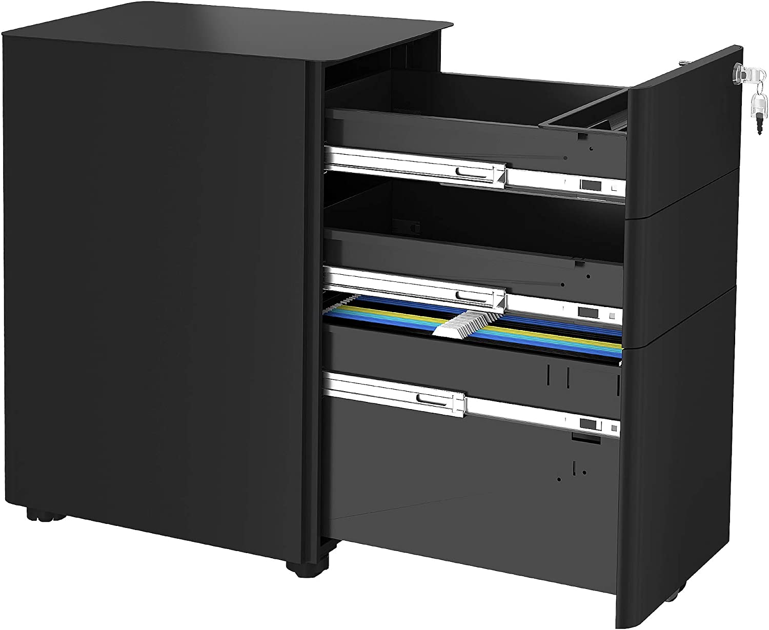 Store YITAHOME 3-Drawer Metal Filing Cabinet Drawers Oklahoma City Mall with Keys Office
