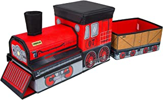 Orbrium Toys Train Shaped Collapsible Toys Storage Bin Organizer for Thomas Wooden Train, Thomas The Tank Engine and Trackmaster, etc.
