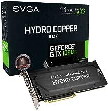 EVGA GeForce GTX 1080 Ti SC2 Hydro Copper Gaming, 11GB GDDR5X, Hydro Copper Waterblock & RGB LED, iCX Technology - 9 Thermal Sensors Graphics Card 11G-P4-6599-KR