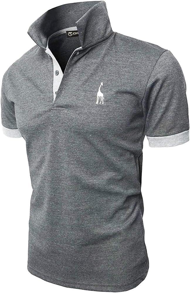 Ghyugr polo maglietta da uomo a maniche corte 100% cotone shenkaclothing0310-E