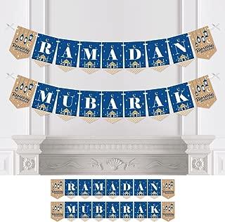 Big Dot of Happiness Ramadan Mubarak - Bunting Banner - Party Decorations - Ramadan Mubarak