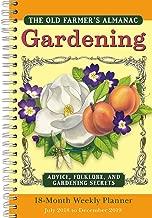Old Farmer's Almanac Gardening 2019 18-Month Weekly Planner