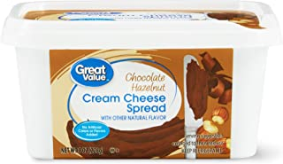 4 pack of Great Value Chocolate Hazelnut Cream Cheese Spread, 8 oz Total 32oz