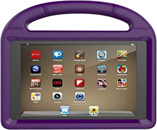 Huaup Shock Proof Case for Fire HD 8 2017/Fire HD 8 2016, Shockproof Convertible Stand Light Weight Protective Handle Kids Case for Fire HD 8 (Fire HD 8 2017/2016, Purple)