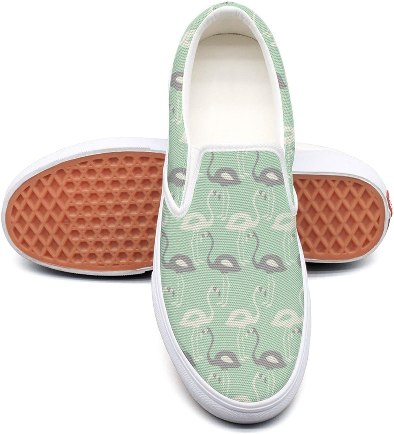 Hjkggd fgfds Casual Flamingo On Mint Womens Ladies Canvas shoes