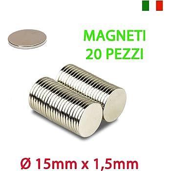 15 MAGNETI NEODIMIO 15X2 MM CALAMITA POTENTE FIMO CERAMICA MAGNETE CALAMITE