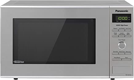Panasonic Microwave Oven NN-SD372S Stainless Steel Countertop/Built-In with Inverter Technology and Genius Sensor, 0.8 Cu. Ft, 950W