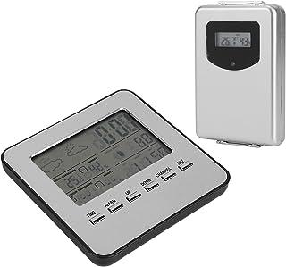 Termometer Hygrometer, Hygrometer Multifunktion för att mäta temperatur och luftfuktighet för väderrapport väckarklocka