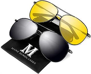 MXNX Aviator Sunglasses for Men Polarized Women UV Protection Lightweight Driving Fishing Sports Mens Sunglasses MX208