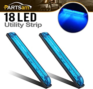 Partsam 2pcs Blue - 18LED 8
