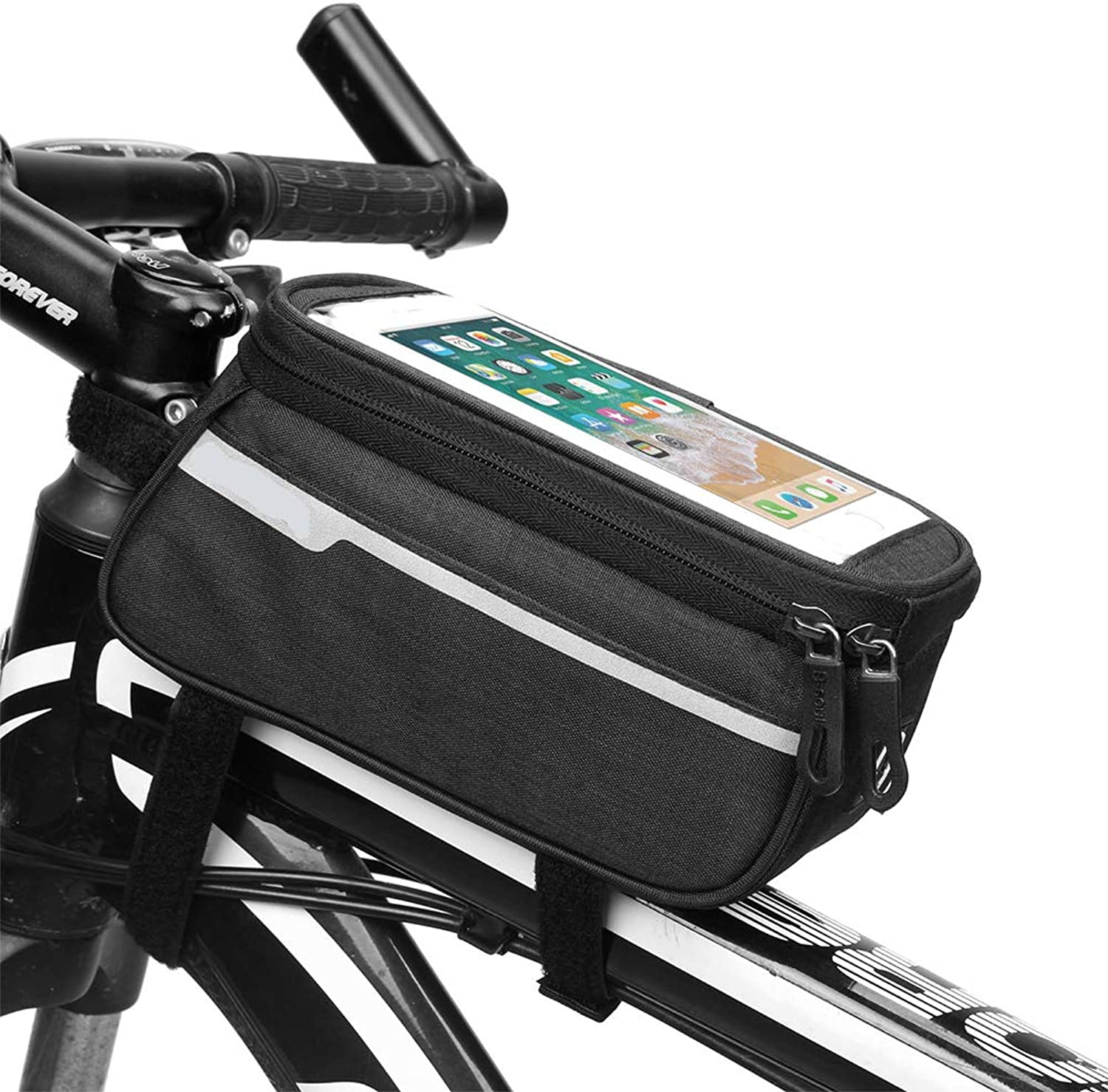 Bicycle Bags Bicycle Front Tube Bag Touch 5.7 Inches Mobile Phone Bags Suitable for Outdoor Cycling