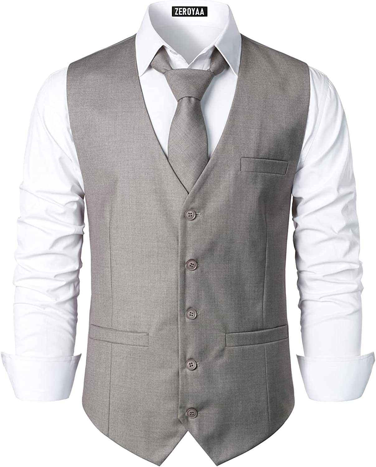 Outlet sale feature ZEROYAA Men's Hipster Urban Design Pockets New product type Dre Business 3 Formal