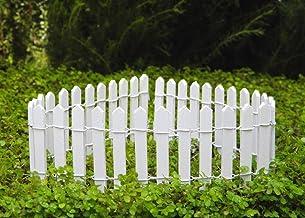 "My New Fairy Miniature Expressions Miniature Dollhouse Fairy Garden 2"" White Picket Fence - My Mini Garden Dollhouse Acces..."