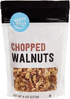 Amazon Brand - Happy Belly Chopped Walnuts, 8 Ounce