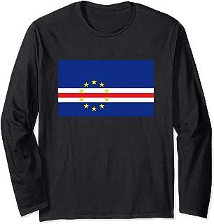 Cape Verde Flag Soccer Football Fan Gift  Long Sleeve T-Shirt