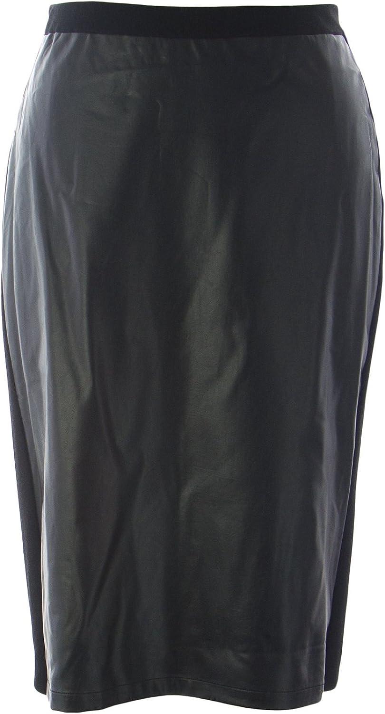 Marina Rinaldi Women's Gloria Faux Leather Skirt Black