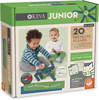 MindWare KEVA Junior 20 Premium Plank Set for Toddlers