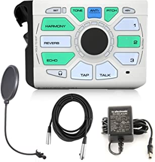 TC-Helicon Perform VK Vocal Effects Processor Bundle with 20ft XLR Cable and CAD Audio Pop Screen Filter