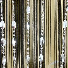 Tangpan 100cmx200cm Bright Buttons Beaded Decorative String Door Curtain Room Divider Window Fly Screen (Black)