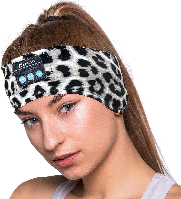 Sleep Headphones Bluetooth Headband Sleeping Headphones,V5.0 Bluetooth Headband with Ultra-Thin HD Stereo Speakers Perfect for Men/Women Gift,Beauty,Sleeping,Jogging,Yoga, Air Travel, Meditation