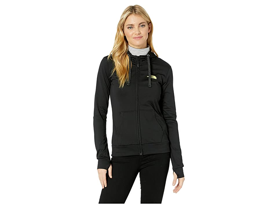 The North Face Fave Lite LFC Full Zip (TNF Black/Exotic Green) Women