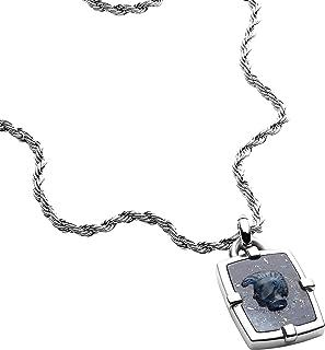 قلادة ديزل الزرقاء الأفريقية للرجال DX1191040 مع علبة هدايا