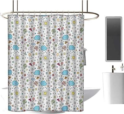 Amazon.com: Homehot cortinas de ducha para baño flores ...