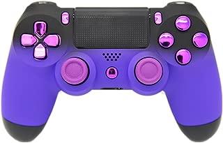 Controlador PS4 personalizado de tacto suave morado y negro se desvanece, SIN MODIFICAR