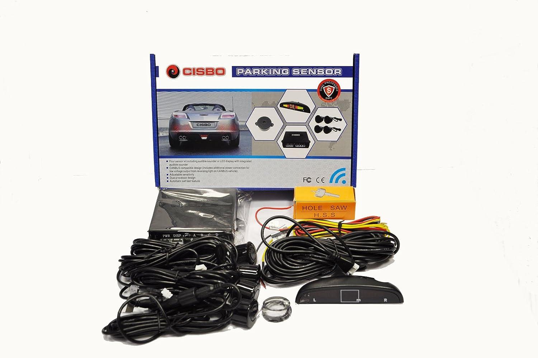 CISBO SB398 Parking Reverse 4 SENSORS Buzzer LED Display CANBUS KIT Dark Sea Blue