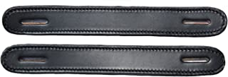 Congress Leather Pair of Black Leather Slotted Steamer Trunk Handles 100BLK