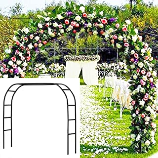 Best Metal Garden Arbor Wedding Arch 76.8 Inch H x 90.5 Inch W \94.5 Inch H x 55 Inch W Assemble Freely 2 Sizes for Various Climbing Plant Roses Vines Bridal Party Decoration Pergola Arbor (Black) Review