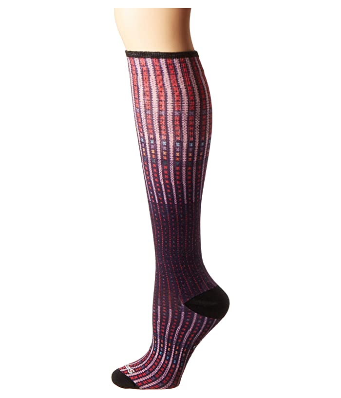 Smartwool  Compression Virtual Voyager Print OTC (Mountain Purple) Womens Crew Cut Socks Shoes