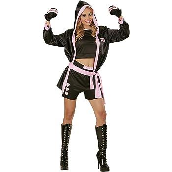 WIDMANN 73963 - Traje de Mujer de boxeo, incl. sujetador ...