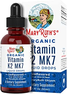Vegan Vitamin K2 (MK7) Liquid Drops by MaryRuth's Non-GMO Gluten Free Paleo, Ketogenic, Bariatric Friendly and Celiac Frie...