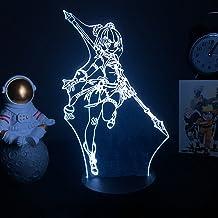 Genshin Impact 3D lampka nocna gorąca gra kreatywna figurka LED postać anime lampa stołowa dom pokój dekoracja lampka nocn...