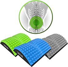 American Lifetime Lower Back Stretcher - Massage for Chronic Lumbar Pain Relief Treatment - Helps with Spinal Stenosis Sciatica Herniated Disc and Neck Muscle Pain - 1 Year Warranty - Blue