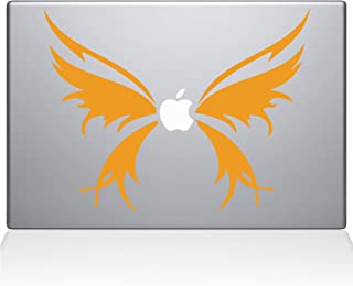 "The Decal Guru 1040-MAC-11A-P Butterfly Wings MacBook Decal Vinyl Sticker - 13"" Macbook Pro (2016 & newer) - Yellow"