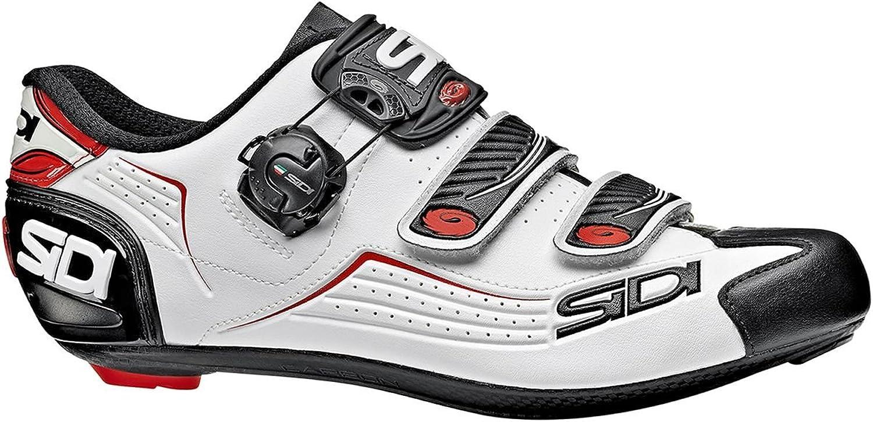 Sidi Alba Carbon Cycling shoes - Men's Black White Red, 45.0